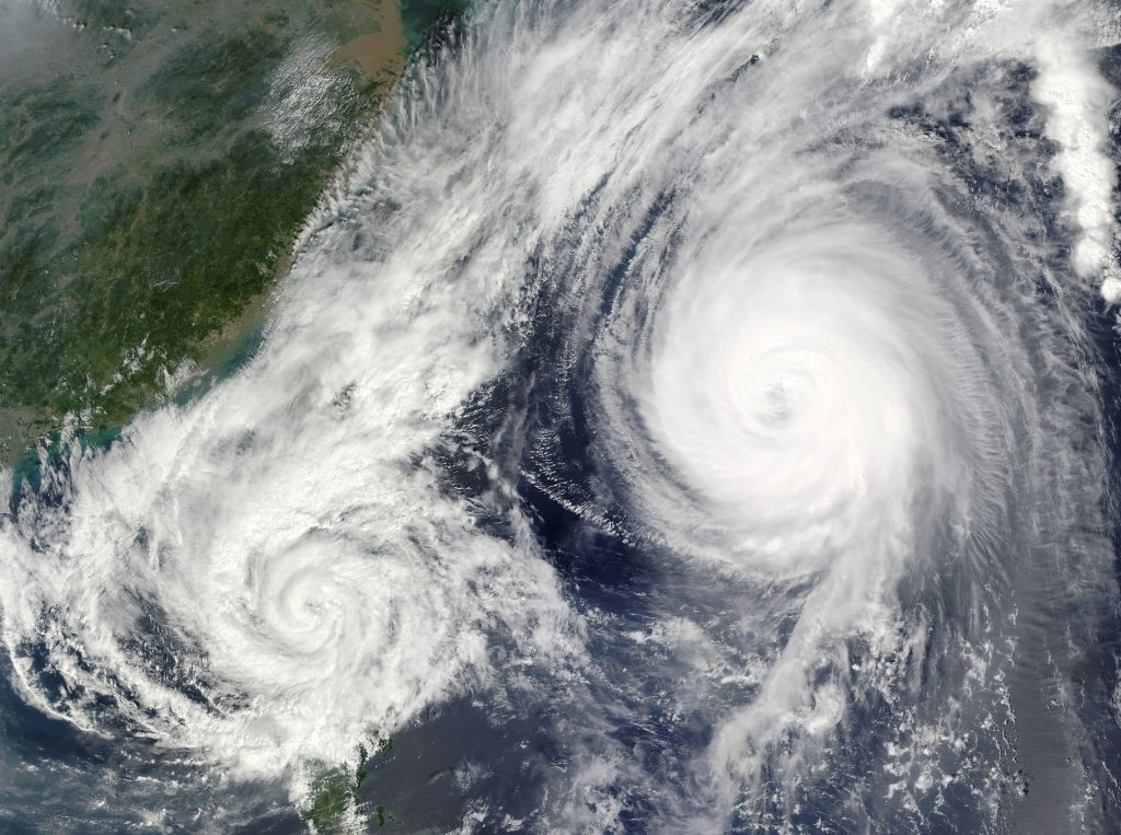 Typhoon information of the US military